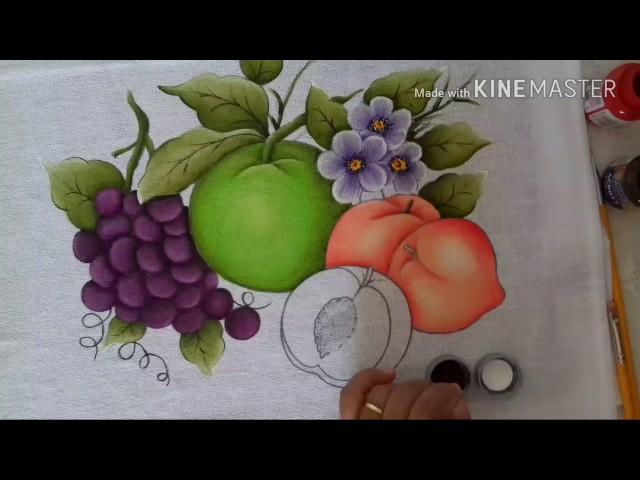 b17eb32c8 Pintura em tecido para iniciante pêssegos