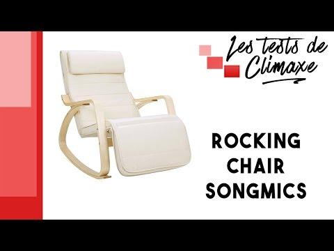 Test d'une rocking chair Songmics avec repose-pieds