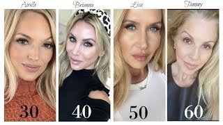 GLAM at ANY AGE  | USING ALL THE SAME PRODUCTS | Different TECHNIQUES