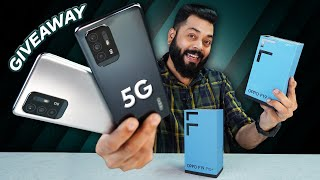 OPPO F19 Pro+ 5G Unboxing And First Impressions | Giveaway ⚡ Dimensity 800U,Ultra Night Video & More
