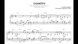Keith Jarrett - Country (Solo Piano) - Transcripción