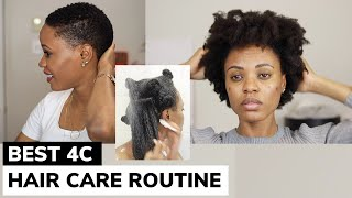 The BEST Natural Hair Care Routine For 4C Hair You Will Ever Watch! EXTREME HYDRATION AND GROWTH 🔥😱