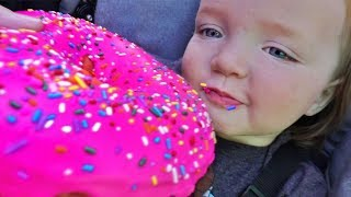 HUGE DONUT vs NiKO BEAR!! Ultimate Family Vacation routine with Dinosaurs, Play Park, and Swimming!
