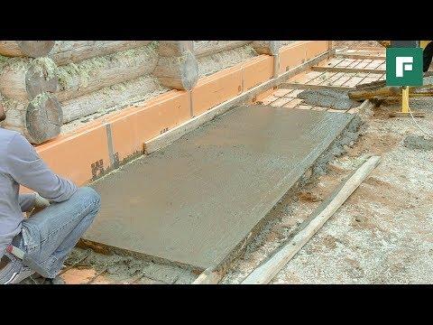 Плитный фундамент, цоколь, отмостка: основы монтажа и утепления // FORUMHOUSE