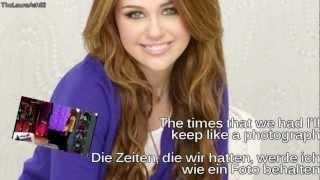 Miley Cyrus-I'll always remember you (Lyrics+deutsche Übersetzung)