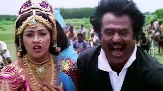 Rajinikanth saves meena from goons | Fight Scene | Muthu | Tamil Movie | Part 7