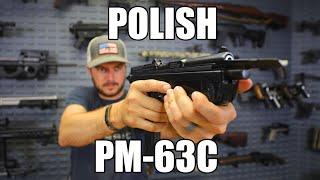Polish PM-63C RAK Semi-Auto Pistol 9x18 Caliber Pistol Pkg With 2 Mags and Holster, Very Rare - Pioneer Arms Radom Poland