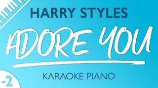 Harry Styles - Adore You (Karaoke Piano) Lower Key