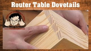 EASY router table dovetails that LOOK HAND CUT, with a simple jig!