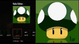 Call of Duty Black Ops 2 Emblem Editor Tutorials - Black Ops 2 - Best Green 1 UP Mushroom Reflecting Emblem Tutorial ( Super Mario Bros ) Playercard