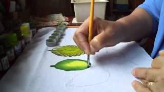Aprenda a pintar folhas de maneira super fácil