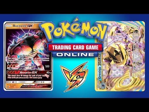 Buzzwole GX / Lycanroc GX vs Greninja BREAK – Pokemon TCG Online Game Play