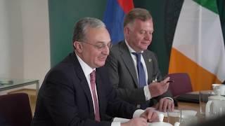 Зограб Мнацаканян встретиться с министром иностранных дел Ирландии