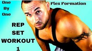 15 Minute Rep Set Workout 1- Shoulders, Delts, Traps, Lats & Quads by Flex Formation Total Body Fitness
