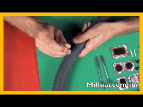 Come riparare una camera d'aria How to patch a bicycle inner tube