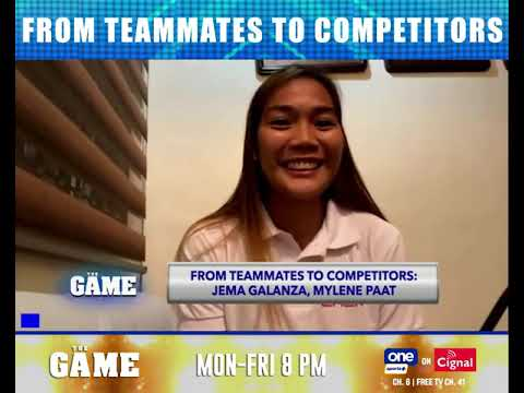 Mylene Paat, Jema Galanza on facing each other in the PVL