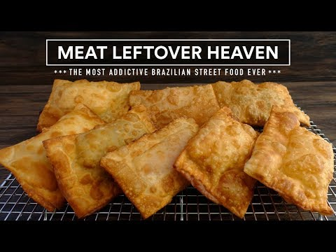 Leftover Meat? PASTEL aka Empanada, Brazilian Street Food Recipe!