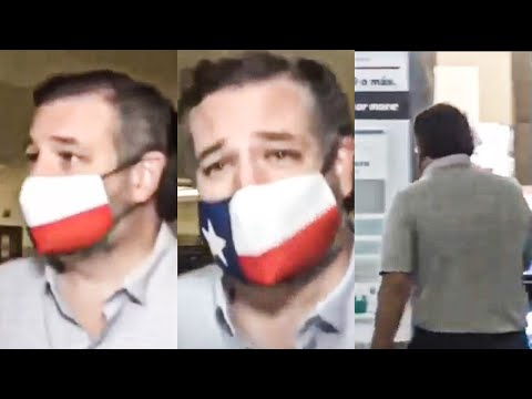 Ted Cruz Desperately Runs Away From Reporters After Cancun Return