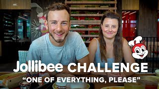 One of Everything Challenge | JOLLIBEE First Time
