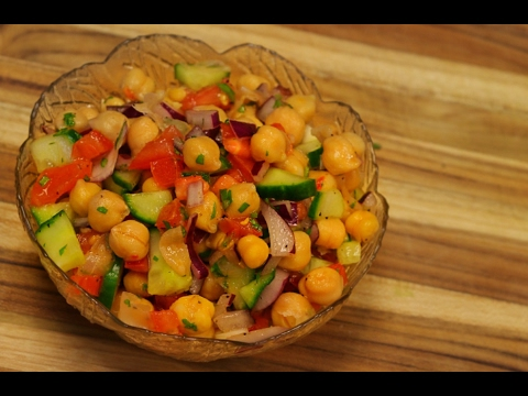Chickpea salad recipe - healthy recipe channel - vegan recipes - vegan protein - vegetarian dinner
