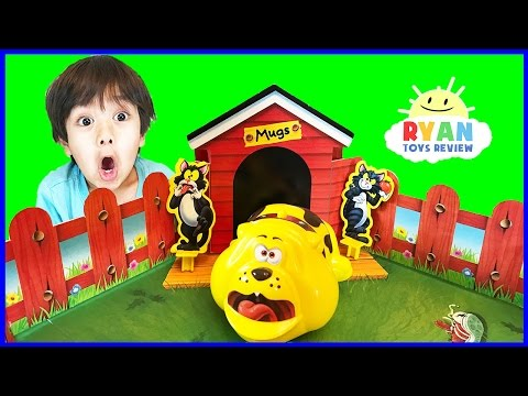 Fraidy Cats Board Game Family Fun For Kids! Egg Surprise Toys Opening  Ryan ToysReview