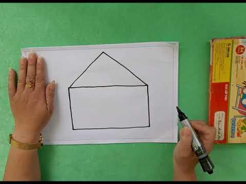 Giờ học: Tạo hình vẽ ngôi nhà