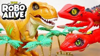 生きてるみたいなペットロボット!ロボアライブ恐竜T-REXリザードスネーク動きがリアルで面白い!子供向けDinosaurToyKids