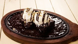 Sizzling Brownie Recipe – Sizzler Chocolate Dessert – CookingShooking