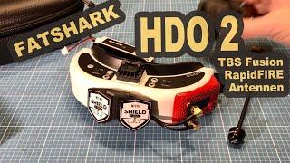 FatShark Dominator HDO 2 TBS Fusion RapidFiRE Module Antennen