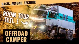 Expeditionsmobil Eigenbau! – Offroad Wohnmobil Room Tour [Teil 1/2]