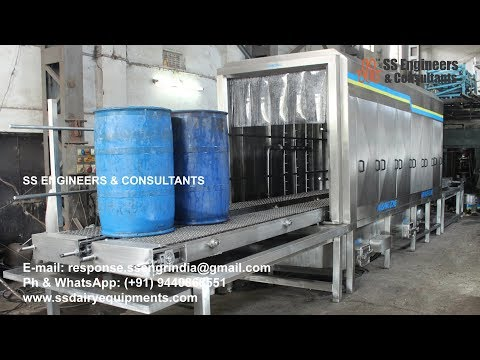Conveyor Washers for Jerry Cans