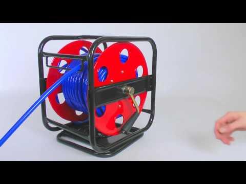 Druckluft-Schlauchtrommel 30 m PU Schlauch 15 bar Typ 46572