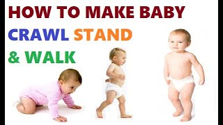 Make Baby Learn Crawling, Standing And Walk on the floor | Growing of 1 year old baby girl or boy |