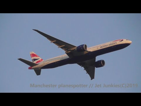 HD) RARE British Airways Boeing 777-336ER G-STBG On BA1402 Heading To Manchester Airport On 11/09/19