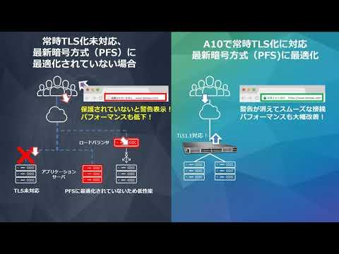 最新の暗号方式を高速処理!常時TLS/PFS対応ADC