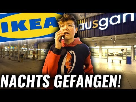 Nachts GEFANGEN bei IKEA... **fail***