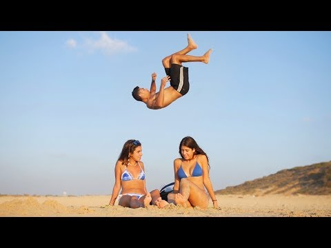 Tricks & Flips at the Beach!! - PEOPLE ARE AWESOME (Summer Edition)