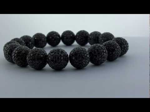 Black Shamballa Real Diamonds Bracelet
