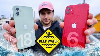 Apple iPhone 12 vs 11 DEEP Water Test! 18 FT Rating Legit?