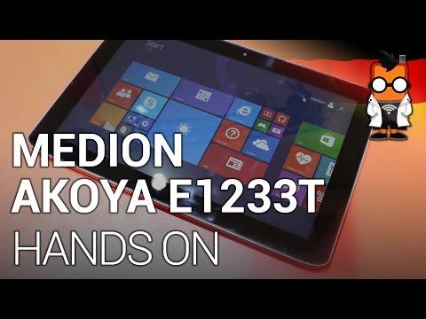 Medion Akoya E1233T Windows Tablet im Kurztest [Deutsch]