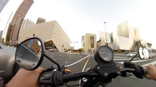 360 Virtual Reality Motorcycle Ride - Downtown Los Angeles (Broad Museum and Disney Hall)