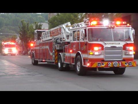 Columbia Hose Fire Company Block Party Fire Truck Parade 2019 - Shenandoah, PA