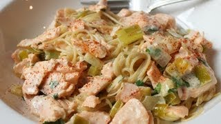 Creamy Salmon Leek Pasta – Easy Spring Seafood Pasta Sauce Recipe