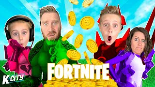 Score Royale é CRAZYINESS (Family Fortnite Fail Fest) JOGOS K-CITY