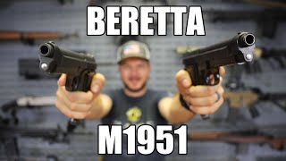 Beretta M1951 9mm Semi-Auto Pistol with 1 Mag, 8rd, NRA Surplus Good to Very Good Condition