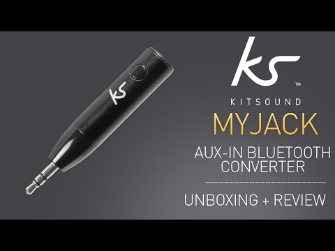 KitSound MyJack Car Aux-In Bluetooth Audio Receiver Unboxing & Review!