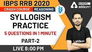 Syllogism Practice: 5 Questions in 1 Minute (Part-2) | Reasoning | IBPS RRB 2020 Crash Course  VRISHCHIK RASHI–SCORPIO | PREDICTIONS FOR JUNE - 2020 RASHIFAL | MONTHLY HOROSCOPE | PRIYANKA ASTRO | YOUTUBE.COM  EDUCRATSWEB