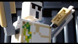 Lego Minecraft: Iron Man Beats Bone (stop-motion animation / brickfilm) comedy film