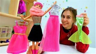 Игры для девочек: шоппинг для Барби. Видео про одевалки