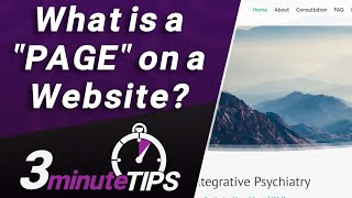 "What is a ""Page"" on a website? Web Page vs Web Site, Size of Web Pages, and more!"